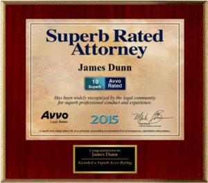 San Jose Criminal Attorney James Dunn Awarded Superb Rating by Avvo